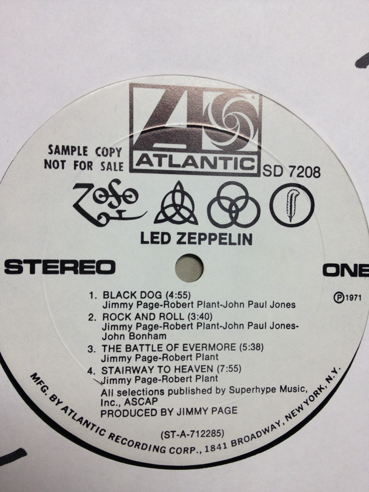 Led Zeppelin Iv Promo White Label My Best Reviews